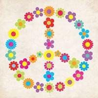 Peace Floral Fine Art Print