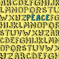 Peace Alphabet by Louise Carey - various sizes, FulcrumGallery.com brand