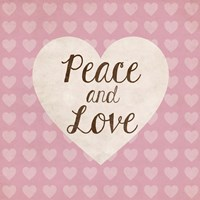 Peace and Love by Louise Carey - various sizes, FulcrumGallery.com brand