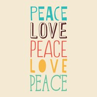 Peace Love 3 by Louise Carey - various sizes
