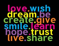 Love Wish Dream Fine Art Print