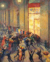 Riot in the Gallery, 1910 Fine Art Print