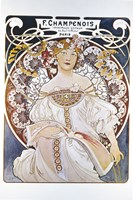 F Champenois, Paris 1898 by Alphonse Mucha, 1898 - various sizes