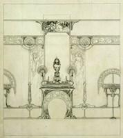 Design for the Boutique of Jeweller Fouquet, 6, Rue Royale Fine Art Print