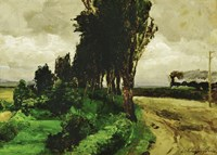 Railway in a landscape, 1890-95 Fine Art Print