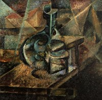 Still Life With Botttle by Umberto Boccioni - various sizes