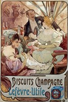 Champagne Biscuits, 1897 by Alphonse Mucha, 1897 - various sizes