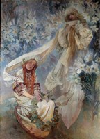 Madonna of the Lilies, 1905 Fine Art Print