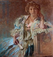 Portrait of Berthe Lalande, 1904 by Alphonse Mucha, 1904 - various sizes