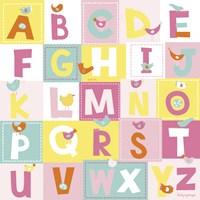 Birdie Alphabet Fine Art Print
