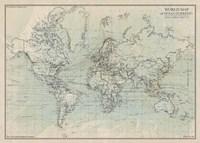 Ocean Current Map I Fine Art Print