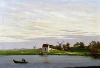 Landscape with Windmills Fine Art Print