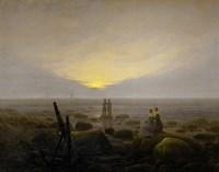 Moonrise on the Seashore, 1821 Fine Art Print