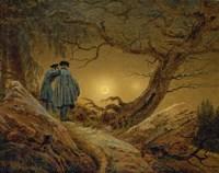 Two Men Observing the Moon, 1819-1820 Fine Art Print