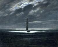 Sea-Piece by Moonlight Fine Art Print