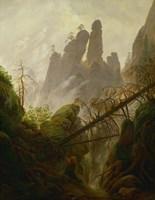 Mountain Landscape (Felsenlandschaft im Elbsandsteingebirge), c 1822-1823 Fine Art Print