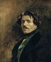 Delacroix, Self-Portrait by Eugene Delacroix - various sizes