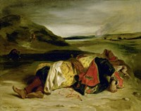 The Death of Hassan, 1825 by Eugene Delacroix, 1825 - various sizes