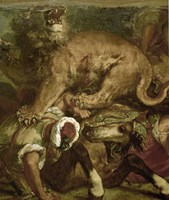 The Lion Hunt by Eugene Delacroix - various sizes