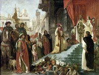 The Return of Columbus, Audience before King Ferdinand and Isabella of Spain, 1839 by Eugene Delacroix, 1839 - various sizes