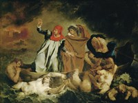 Dante and Virgil, 1822 by Eugene Delacroix, 1822 - various sizes