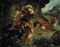 The Tiger Hunt by Eugene Delacroix - various sizes