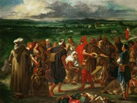 Arab Comedeans, 1848 by Eugene Delacroix, 1848 - various sizes, FulcrumGallery.com brand