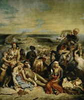 The Massacre of Chios Greek Families Waiting for Death or Slavery, 1824 Fine Art Print
