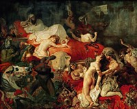 The Death of Sardanapalus, 1827 by Eugene Delacroix, 1827 - various sizes