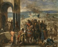 Constantinople Taken by the Crusaders, 1204 Fine Art Print