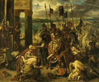 Taking of Constantinople by the Crusaders, April 12th, 1204 by Eugene Delacroix, 1204 - various sizes