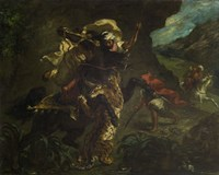 The Tiger Hunt, 1854 by Eugene Delacroix, 1854 - various sizes