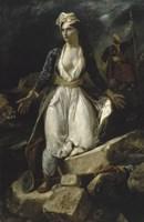 Greece Expiring on the Ruins of Missolonghi, 1826 Fine Art Print