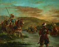 Fording a River in Morocco, 1858 by Eugene Delacroix, 1858 - various sizes