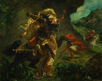 Tiger Hunt, 1854 by Eugene Delacroix, 1854 - various sizes
