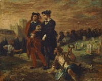 Hamlet and Horatio in the Cemetery by Eugene Delacroix - various sizes