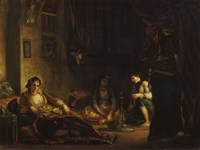 Women of Algiers in their Apartment-49, 1847 by Eugene Delacroix, 1847 - various sizes
