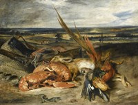 Still Life with Lobster, 1827 by Eugene Delacroix, 1827 - various sizes