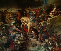 The Battle of Taillebourg July 21, 1242 by Eugene Delacroix, 1242 - various sizes