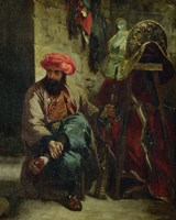 Turk with Saddle by Eugene Delacroix - various sizes