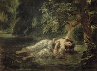 Death of Ophelia by Eugene Delacroix - various sizes