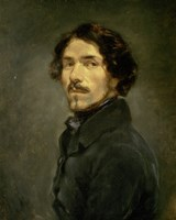 Self-Portrait, 1840 by Eugene Delacroix, 1840 - various sizes