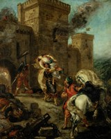 Rebecca Raped by a Knight Templar during the Sack of the Castle Frondeboeuf, 1858 by Eugene Delacroix, 1858 - various sizes