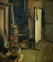 Corner of a Painter's Study, the Stove by Eugene Delacroix - various sizes