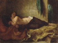 Odalisque by Eugene Delacroix - various sizes