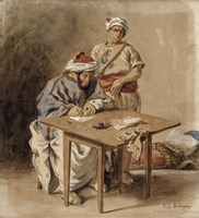 Moroccan Public Scribe by Eugene Delacroix - various sizes