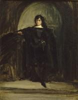 Portrait of the Artist as Hamlet by Eugene Delacroix - various sizes