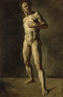Study of a Male Nude by Eugene Delacroix - various sizes