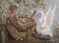Fresco: Leda by Eugene Delacroix - various sizes
