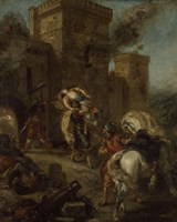The Abduction of Rebecca by Eugene Delacroix - various sizes
